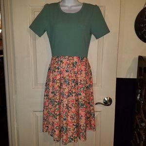 Elegant LuLaRoe Fit & Flare Dress